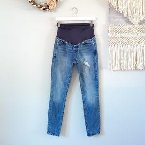 GAP | Maternity Full Panel Destructed Skinny Jeans